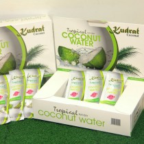 Coconut drink in sachet packaging